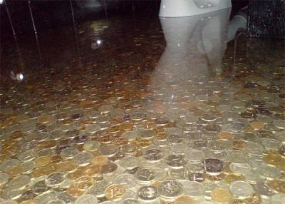 Наливной пол из монет