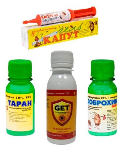 Средства для борьбы с тараканамми