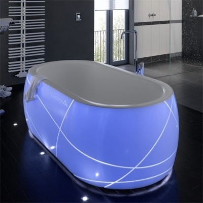 Ванна с подсветкой из искусственного камня