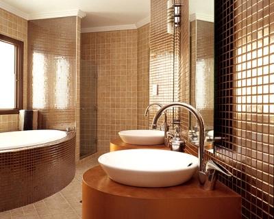 Мозаика для отделки стен ванной комнаты