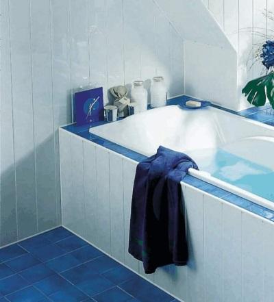 Панели из пластика для стен ванной