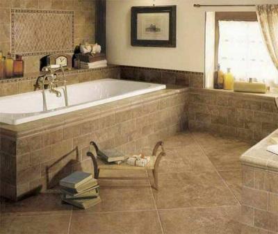 Матовый керамогранит для ванной комнаты