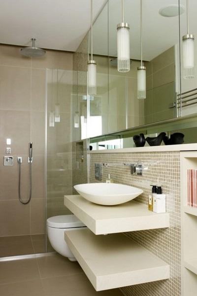 Навесные полки в ванной