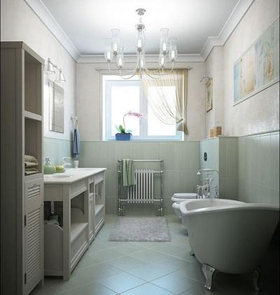 Совмещение маленькой ванны с туалетом