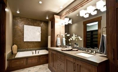 Подсветка мебели в ванной
