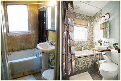 Ремонт в ванной комнате до и после