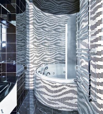 Черно серая ванная комната