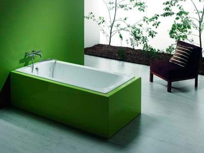 Прямоугольная чугунная ванна