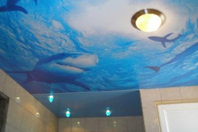 Потолок ванной в морском стиле