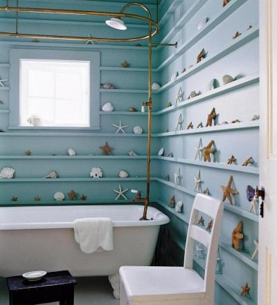 Сантехника для ванны в морском стиле