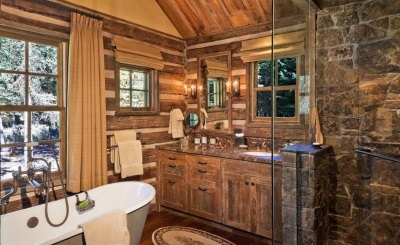 Кантри стиль в дизайне небольшой ванной