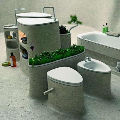 """Ванная комната от испанских дизайнеров """"войлочная"""""""