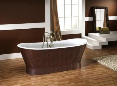 Ванна декорированная под натуральную кожу