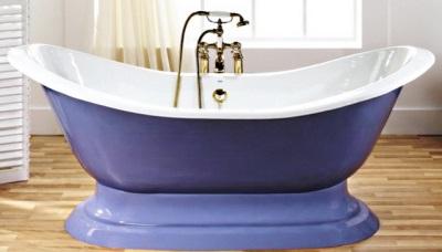 Белая эмаль чугунной ванны