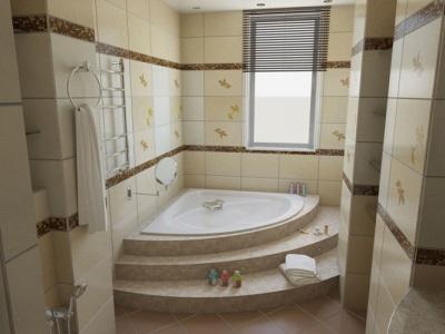 Угловая встраиваемая ванна