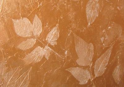 Декоративная рельефная штукатурка с эффектом золотого свечения