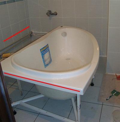 Стыки ванны и кафеля