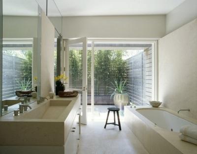 Ванная комната с правильным оформлением по фен-шуй