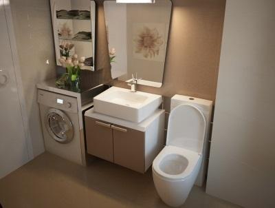 Красивые стиральные машины, как дополнение к дизайну ванной комнаты