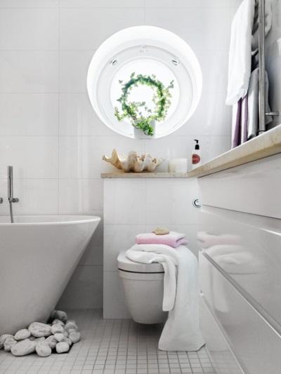 Маленькая ванная комната - стильный дизайн
