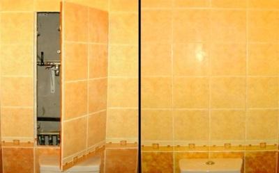 Короб по коммуникации в ванной