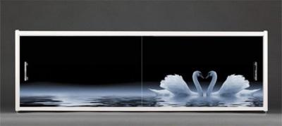 Декоративный раздвижной экран для ванны