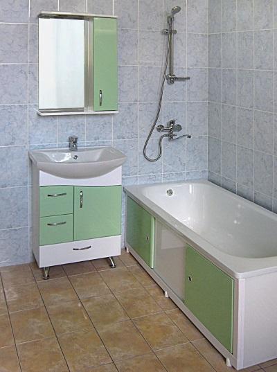 Экран в сочетании с мебелью для ванной
