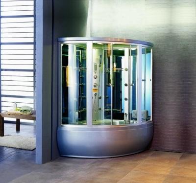 Гидробокс красивый в ванной комнате
