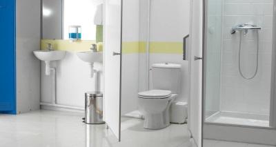 Измельчитель для унитаза в ванной комнате