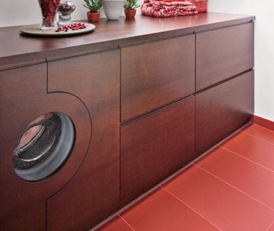Особенности встраиваемой мебели в ванной со для стиральной машины