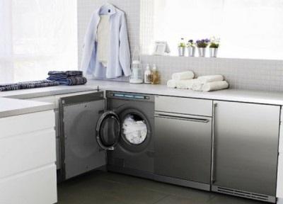 Мебель для встраиваемой стиральной машинки в ванную комнату