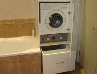 Шкаф для стиральной машины в ванную своими руками