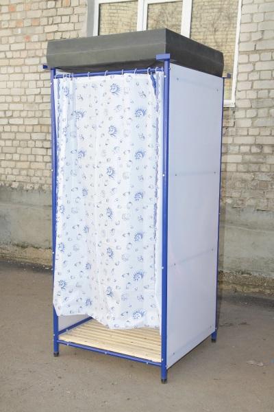 Пластиковая уличная душевая кабина для дачи