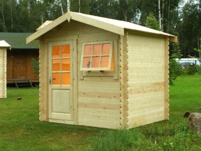 Большой деревянный уличный душ