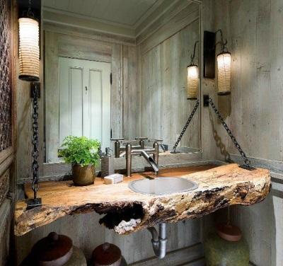 Подвесная раковина в ванную комнату