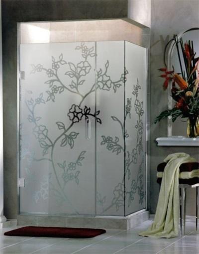 Матовое стекло в душевой кабине