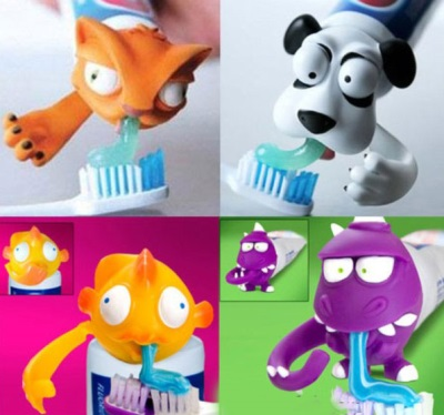 Детские насадки на тюбик с зубной пастой