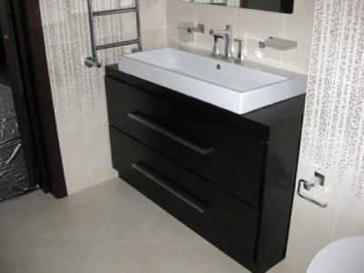 Популярные размеры тумбочек с раковинами для ванной