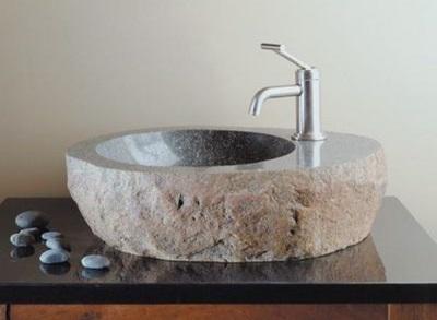 Каменные накладные раковины для ванной комнаты