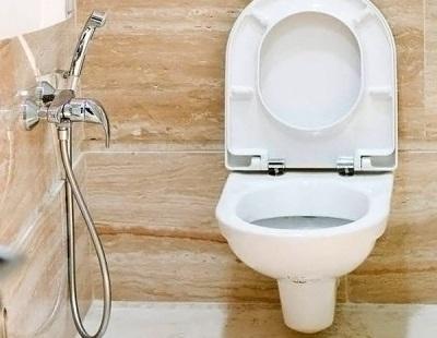 Установка смесителя с гигиеническим душем