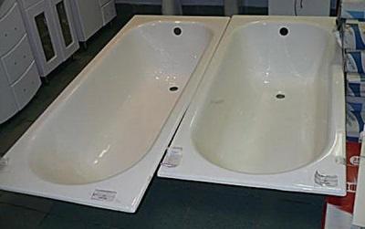 Глубина и чугунной ванны