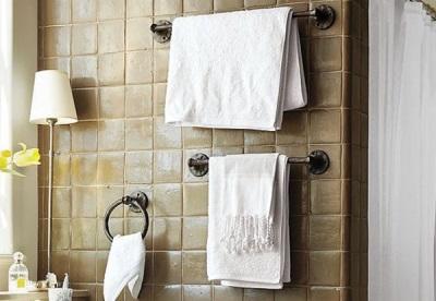 Вешалки для полотенец под интерьер ванной