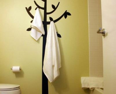 Вешалка-дерево для полотенец в ванную комнату