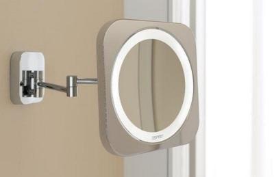 Косметическое зеркало с подсветкой для ванной комнаты