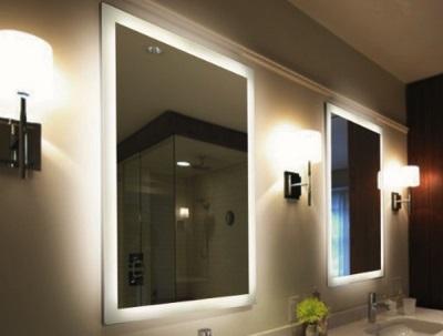Декоративная подсветка зеркала в ванной