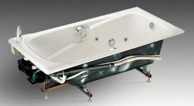 Гидромассаж чугунной ванны