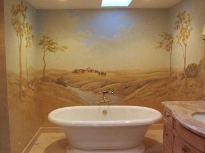 Фотообои для небольшой ванной комнаты