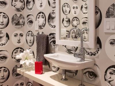 Виниловые фотообои в ванной