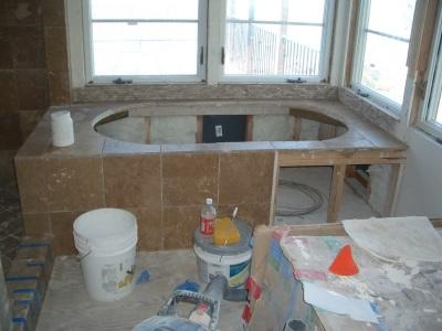 Облицовка каркаса для ванны