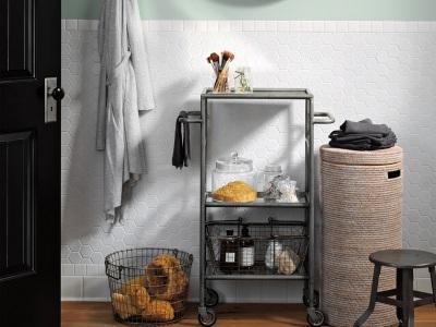 Корзины для белья для ванной комнаты